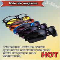 Uvioresistant radiation outside sport mirror noctovision windproof mirror sun glasses male fashion trend