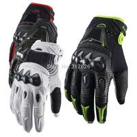 Original Leather Carbon Fiber Bomber MOTO Glove for Motorcycle Motorbike Mountain Bike Bicycle Motorcross Racing Riding Gloves