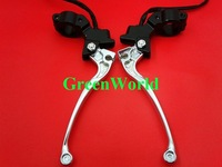 A Pair Scooter Bike Handle Free Shipping Brand New Brake Lever with Switch right and left hand J-0103