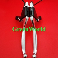 Brand new  Pair Scooter Bike Handle Free Shipping Brand New Brake Lever with Switch right and left hand J-0104