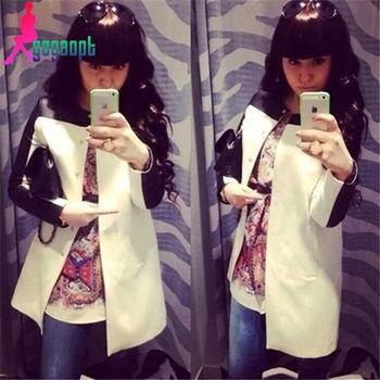 Gagaopt Модный Женщины coat with Черный and Белый Цвет Dovetail