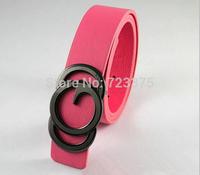 2014 south Korean New brands Lady fashion Leisure joker candy color belt,Women's high quality PU leather belts+Metal belt buckle