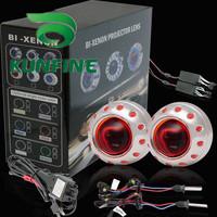 Whole Sale! G3 Bi-Xenon HID Projector Lens Kit ,Bi-Xenon HID +Projector Lens Kit +Double Angle Eyes and devil eyes+Bulbs