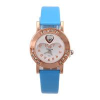 New Watches Fashion 2014 Wristwatches Vintage Brand Women Dress Watch Quartz Analog Casual Montre Femme women Rhinestone watch