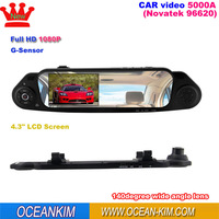 Free shipping,car accessories 4.3''1080P Car DVR Vehicle Camera Video Recorder 1920x1080 car dvr full hd (5000A)