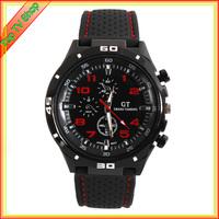 GT 2014 F1 male sports watches watches luxury fashion brand silicone strap quartz movement watches men's watches.