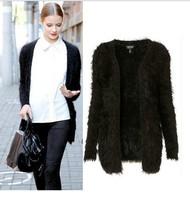 New 2014 Korean cardigan women winter sweater Knit Blouse Mohair Sweater Knitwear ladies long loose sweater Tops Coat  W00152