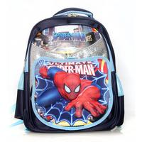New 2014 Orthopedic Primary School Bag Children Spider-Man Backpack Kids Mochilas Backpacks Free Shipping