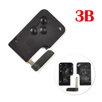For Renault MEGANE remote control casing for smart card key blank case cover shell 3 button