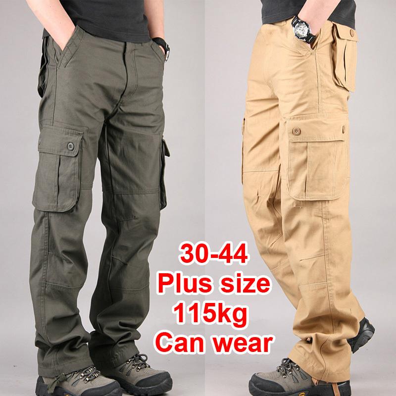 30-44 plus size hochwertige herren cargo hosen herren hose multi pocket militär insgesamt für männer im freien lange Hosen