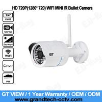 GT View ONVIF Mini Wireless IP Camera Outdoor 720P Waterproof IP66 Wifi Network 1.0MP HD CCTV Camera P2P Plug Play.GT-701W-1