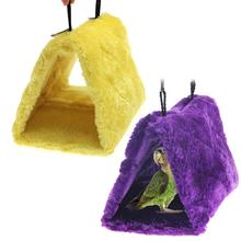 V1nf pássaro papagaio Budgie ninho Shed Fluffy quente suspenso Hut Toy roxo amarelo S correio DHL EMS FeDex grátis frete(China (Mainland))