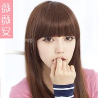 The new Vivian wig sideburns Qi Xiu face inclined Liu Haizhen sends the piece can be hot dye.