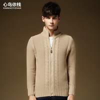 promotion !2014 men leisure cloths sweaters  for autumn and winter warm Knit cardigan more color M-2XL size(MY0022)