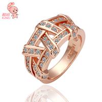 18KGP Weave 18K Platinum Plated Ring Jewelry   Golden Plating  Rhinestone Austrian Crystal Element
