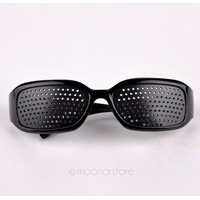 Free Shipping Black Unisex Eyesight Vision Improve Pinhole Glasses Eyes Exercise Glasses Natural Healing ZMHM107#S2
