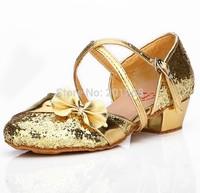 In stock Fashion Children latin/modern/practice dance shoes Girls Shoes  Kid Ballroom Salsa Shoes free shipping