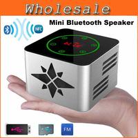 NFC HIFI Touch Key-Press Mini Bluetooth Speaker Wireless Portable Blue tooth Sound Box LED Screen Speaker With FM Radio MP3 Play