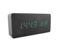 Big Number Alarm Clocks with Acoustic Control Sensing and Thermometer Single Face LED Digital Clock, Table Clock, Desktop Clock