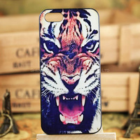 Personality Cool Tiger Lion Series 3D Luxury Phone Case for Iphone 5 5S