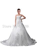 Romantic wholesale sweetheart appliques Floor-Length wedding dresses 2015 plus size ball gown off the shoulder