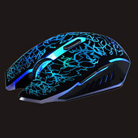 Retail USB Wired Optical Computer Gaming Mouse 2400DPI 3500 DPI Mice gamer Colorful LED Light For Desktop Laptop Free Shipping