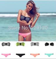 Free Shipping High quality NEOPRENE BIKINI Superfly Swimsuit Bottoms Neoprene bikini set swimwear triangl bikini bathing suit