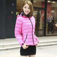 2014 New Design Women's Winter Jacket  Hoodies Jacket Warm Fashion Collect Wasit Winter Cotton Padded Hooded Down Coat