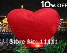 Wishing Lamp SKY, heart Sky Lanterns, ,balloon 20pcs of 1lot(China (Mainland))