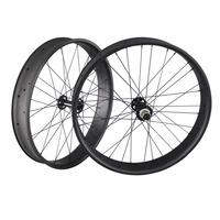 2014 Carbon fat bike top-rated carbon fiber snow wheels 26er carbon fat bike wheelset 12x190mm thru axle fat wheels FW90