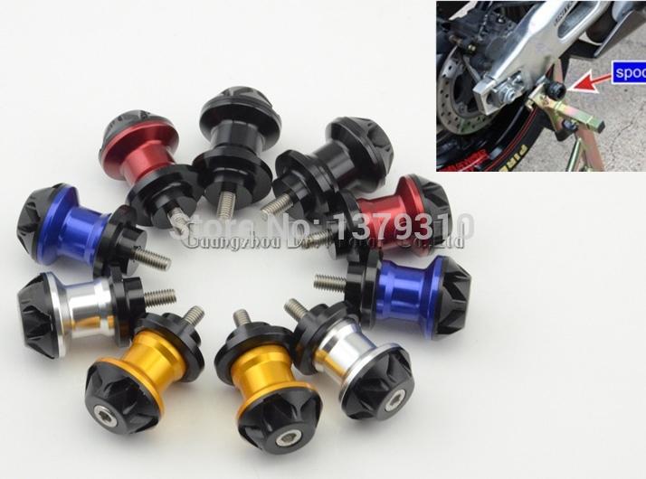 8mm swingarm spools motocross accessories CNC aluminum screw bobbin for SUZUKI KAWASAKI HONDA YAMAHA BMW(China (Mainland))
