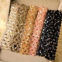 Handmade Multicolor Flashing Crystal Spring Side Folder Hairpin Hair Accessories Headdress Jewelry