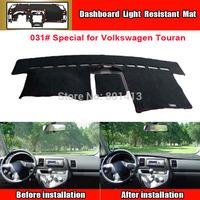 Dashboard Cover Mat for Volkswagen VW Touran,sun block mat,New Material Fireproof Polyester Fiber