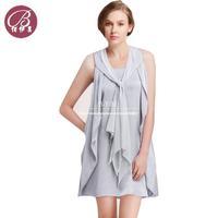 2014 Summer Round Neck Simple Atmospheric Women's Dress Ladies Loose Irregular Elegant Casual Fashion Dress