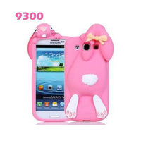 2015 NEW Cute 3D Rabbit rubber Silicon case cover for samsung galaxy s3 S4 cell phone cases covers to samsung i9300 9300 i9500