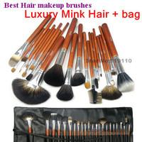 Best 22 pcs 22pcs Animal hair makeup brush set professional Kolinsky sable Mink Hair Makeup cosmetics Brushes Sets kits with bag