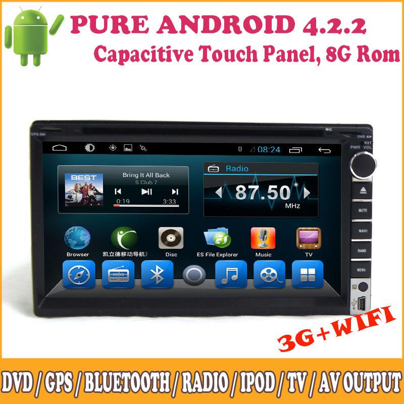 2 Din Car Radio Stereo GPS Navigation TV Bluetooth Wifi 3G USB/SD Port 1080P HD Touch Panel Universal DVD Media Player(China (Mainland))