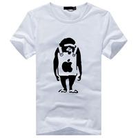 New summer fashion simple cotton round neck short sleeve T shirt Men's Slim T shirt a generation of fat 83