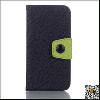 2014 new product leather case, contrast color phone cases for iphone 6, fashion design many colors for your selection