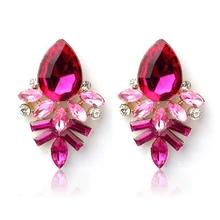 2015 Newest Arrival 520 Women girl earrings Fashion Lady Rhinestone jewelry Drop Alloy Ear Studs Earrings