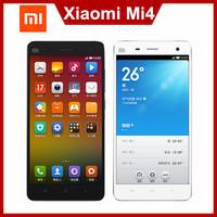 """Original XIAOMI MI4 MI4S MIUI V5 Android 4.4 5.0"""" FHD Mobile Phone Qualcomm Quad Core 3GB RAM 16GB ROM 13.0MP 3000mAh WCDMA"""