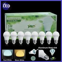 Promotion Items 8pcs/lot 5w plastic+aluminum led bulb with E27 led lamp 110v  220v for modern lamp living room