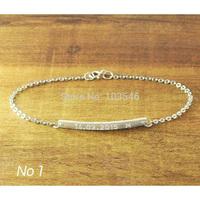 Personalized Bar Bracelet, 925 Silver bar Jewelry, Engraved Bracelet, Nameplate Bracelet, Memorial Bracelet, Letter jewelry