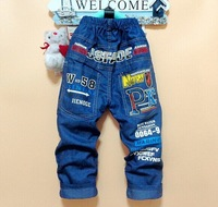 High Quality Mickey Printed boys jeans pants cotton and denim material 5-10 years old free shipping