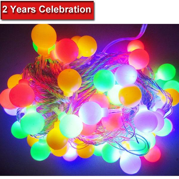 New year RGB 10M 60 LED string Christmas decoration christmas lights holiday night lights cristmas tree(China (Mainland))
