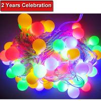 New year RGB 10M 60 LED string Christmas decoration christmas lights holiday night lights cristmas tree