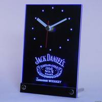 tnc0477 Whiskey Bar 3D LED Table Desk Clock