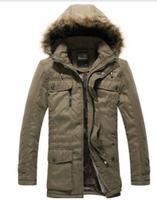 2014 winter jacket men clothing  cotton-padded keep warm fur hooded long coat vetement homme jordan jacket parka