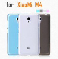 4-color silicon TPU pudding case / Screen protector For Xiaomi Mi4 M4 mobile phone Free shipping
