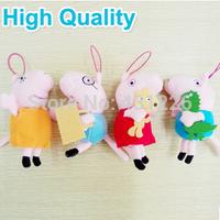 4PCS/Lot Hot Sale 13CM Tall  Anime Baby Toys Peppa Pig Toy George Peppa Pig Plush Family Stuffed Doll Set High Quality